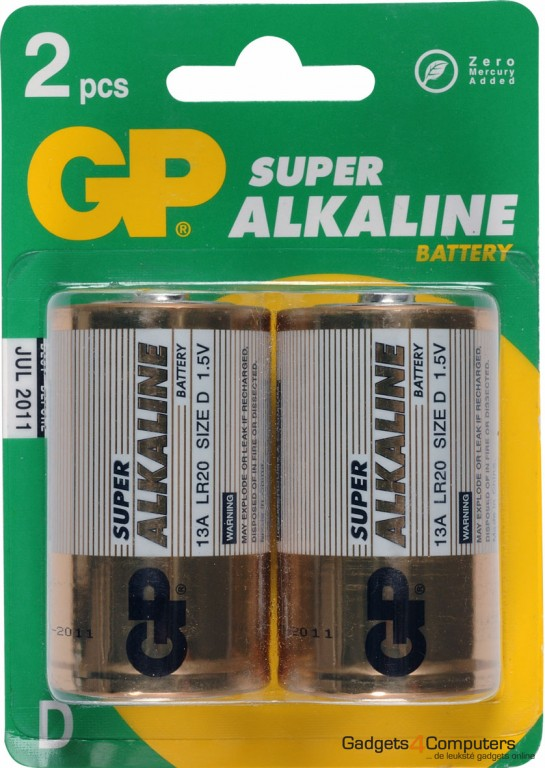 GP Super Alkaline (D) Batterijen 1.5V