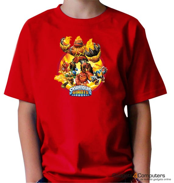 T-shirt - Skylanders Giants - Rood - 9/11