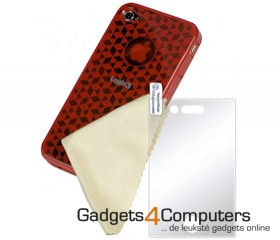Deluxe TPU Case Iphone 4 Rood